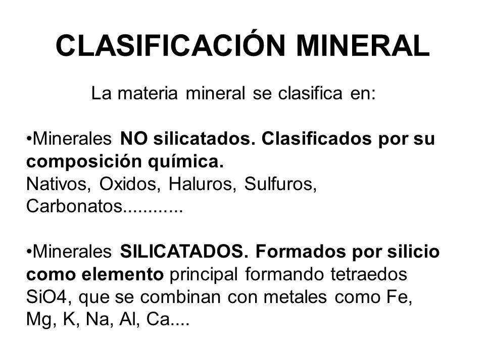 CLASIFICACIÓN MINERAL