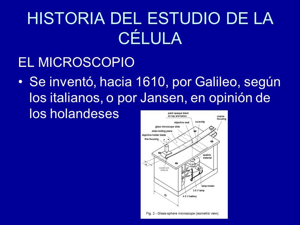 HISTORIA DEL ESTUDIO DE LA CÉLULA