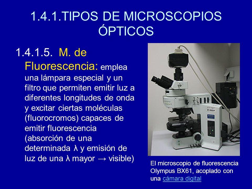 1.4.1.TIPOS DE MICROSCOPIOS ÓPTICOS