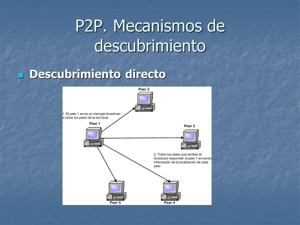 P2P. Mecanismos de descubrimiento