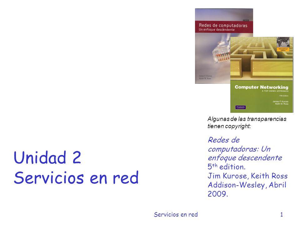 Unidad 2 Servicios en red