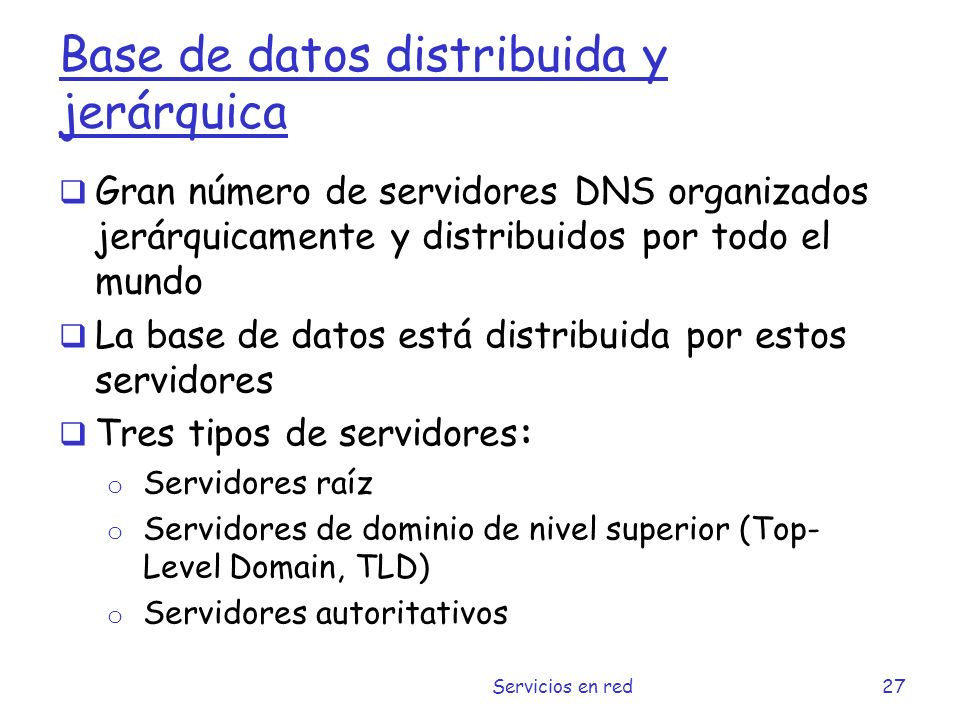 Base de datos distribuida y jerárquica