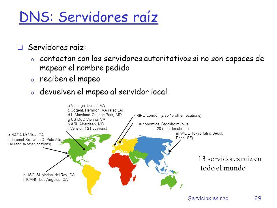 DNS: Servidores raíz Servidores raíz: