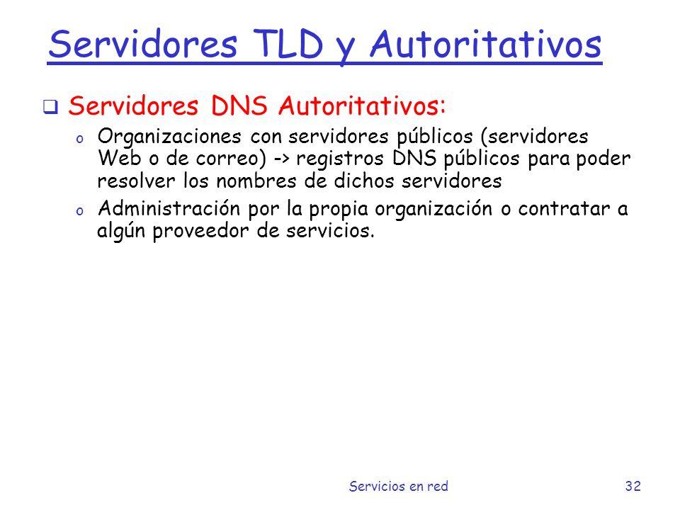 Servidores TLD y Autoritativos