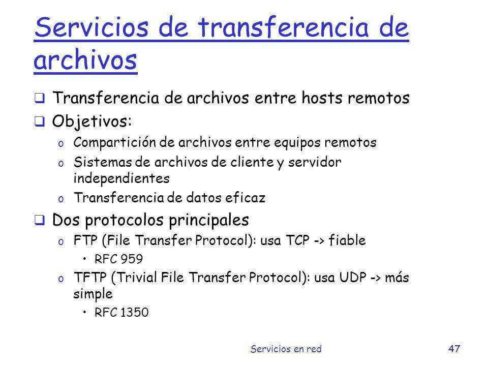 Servicios de transferencia de archivos