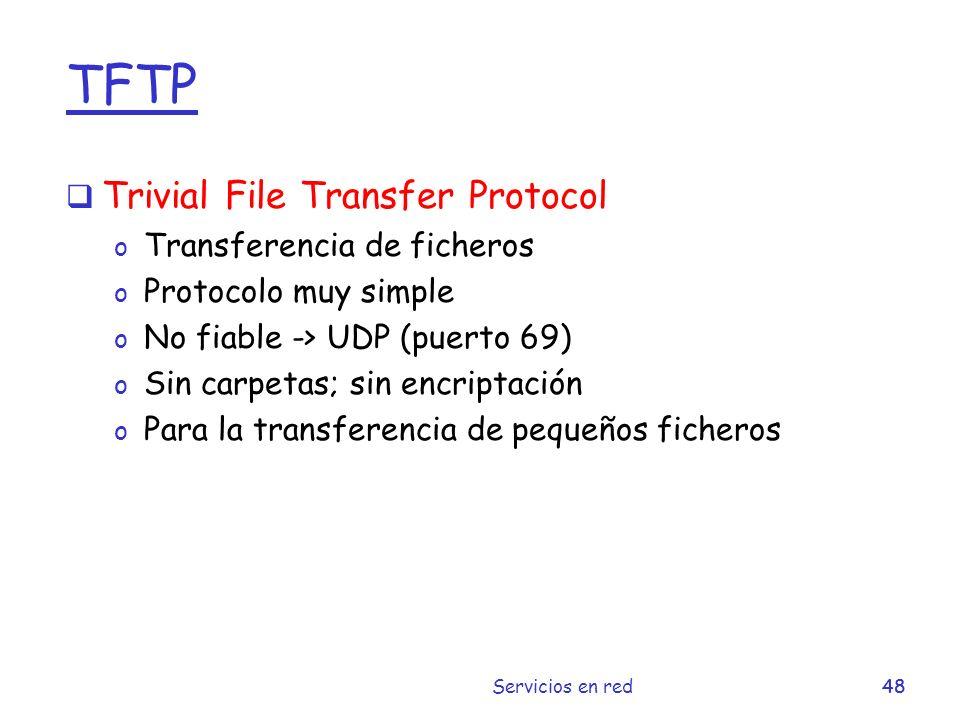 TFTP Trivial File Transfer Protocol Transferencia de ficheros