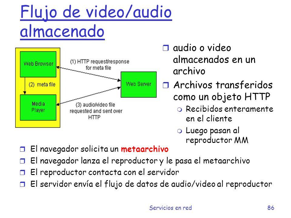 Flujo de video/audio almacenado