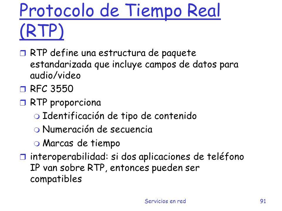 Protocolo de Tiempo Real (RTP)