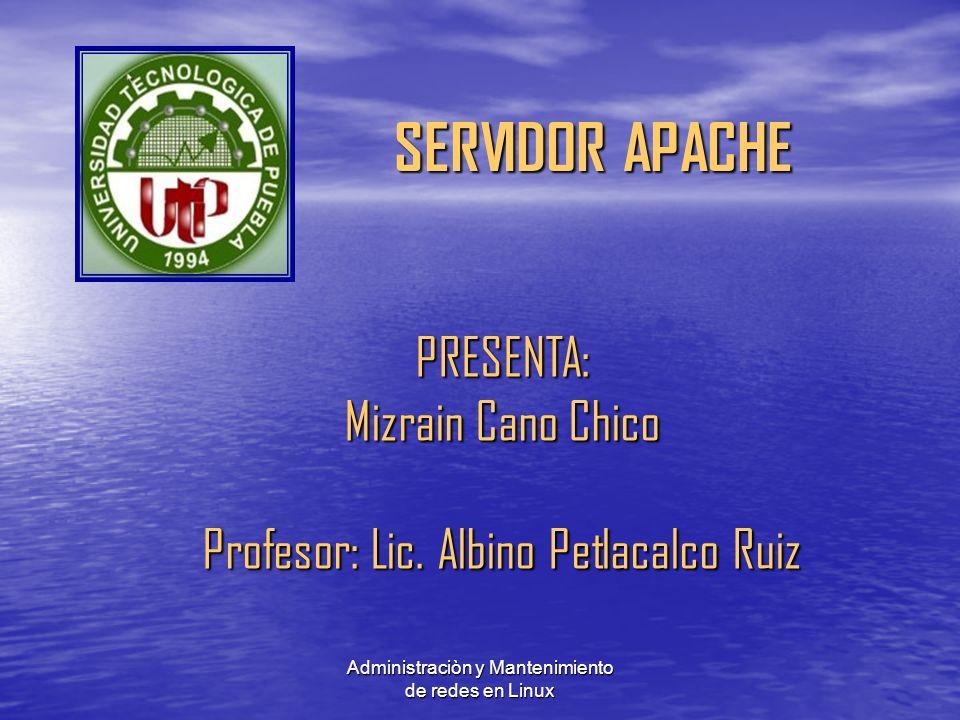 PRESENTA: Mizrain Cano Chico Profesor: Lic. Albino Petlacalco Ruiz