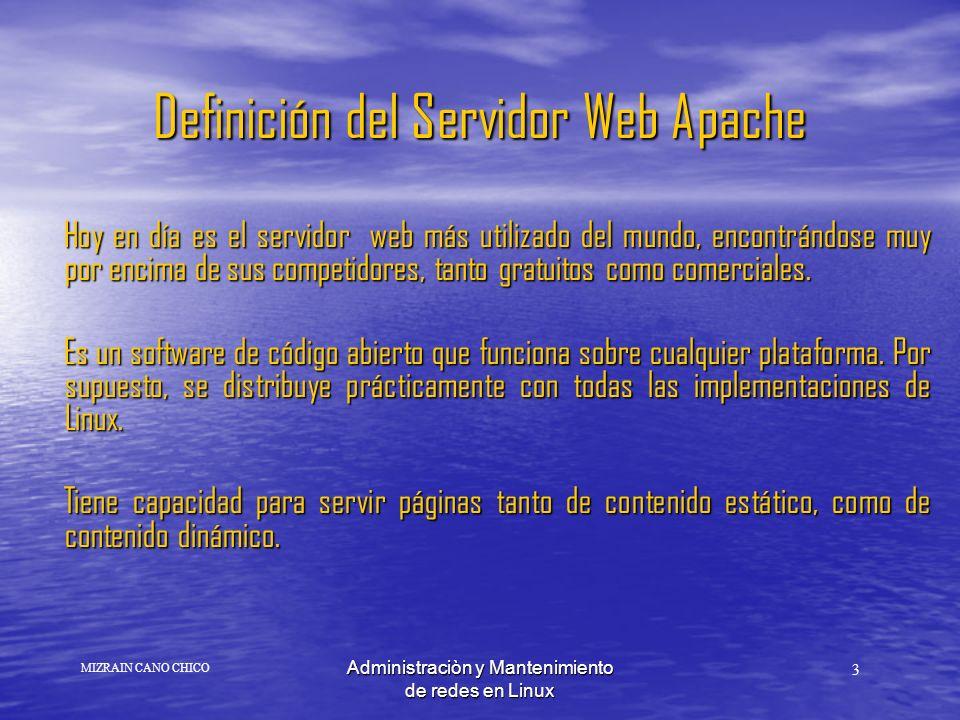 Definición del Servidor Web Apache