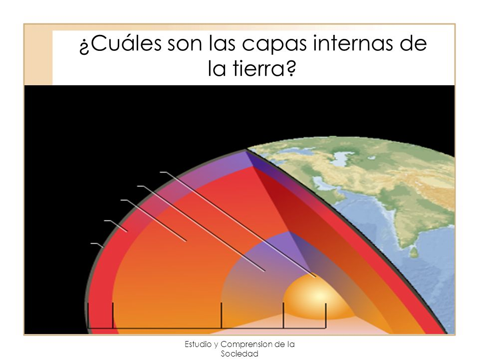 ¿Cuáles son las capas internas de la tierra