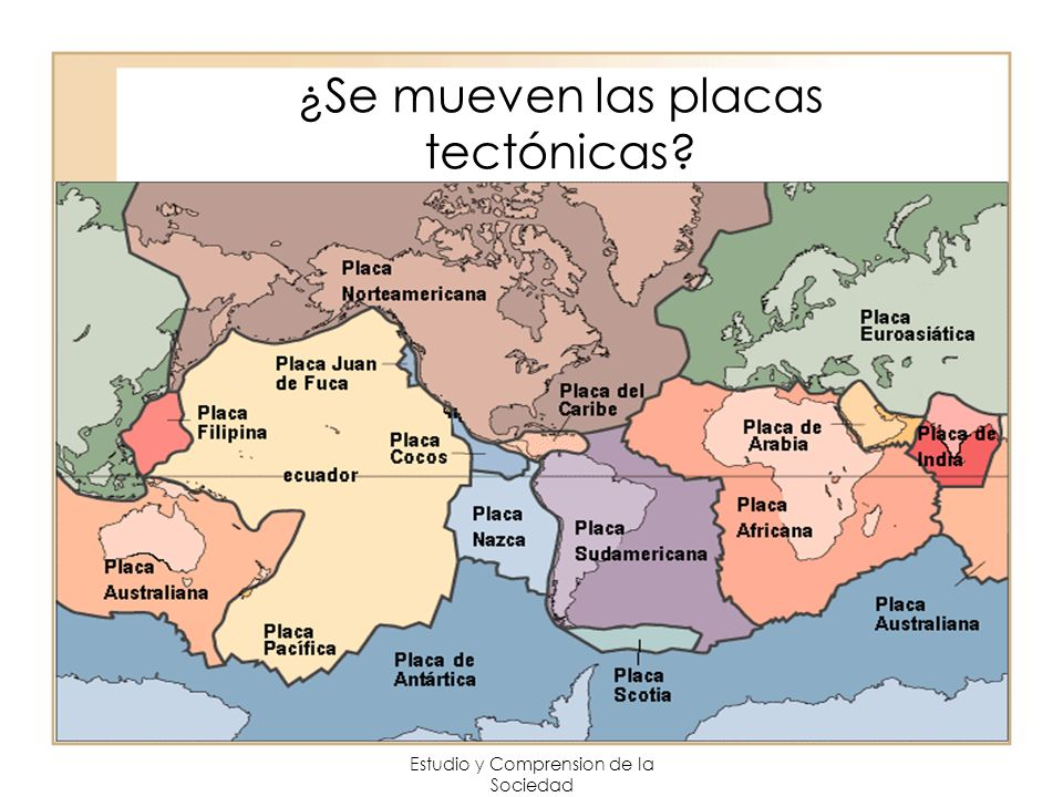 ¿Se mueven las placas tectónicas