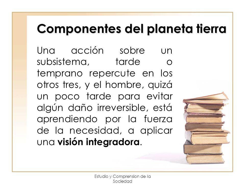 Componentes del planeta tierra