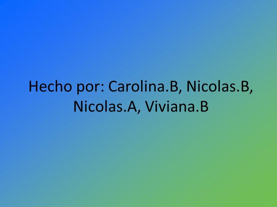 Hecho por: Carolina.B, Nicolas.B, Nicolas.A, Viviana.B