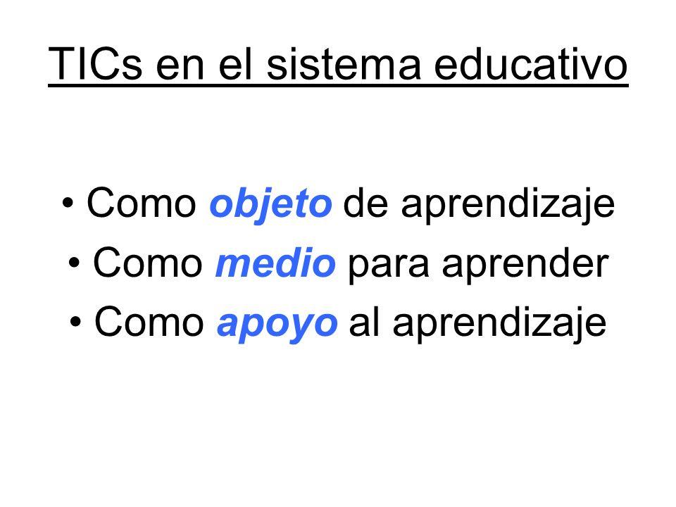 TICs en el sistema educativo