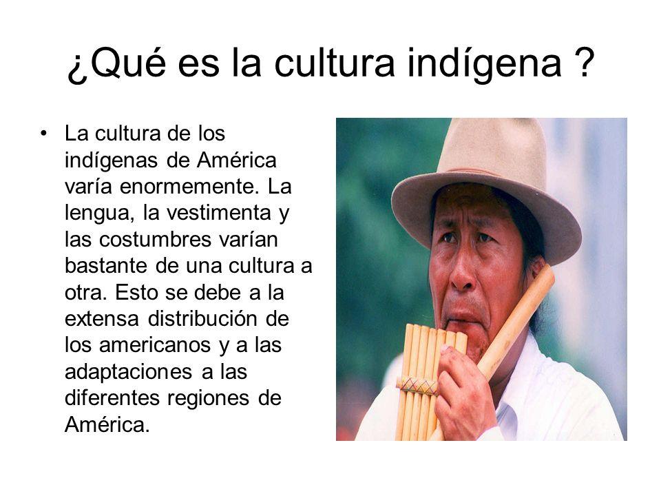 ¿Qué es la cultura indígena