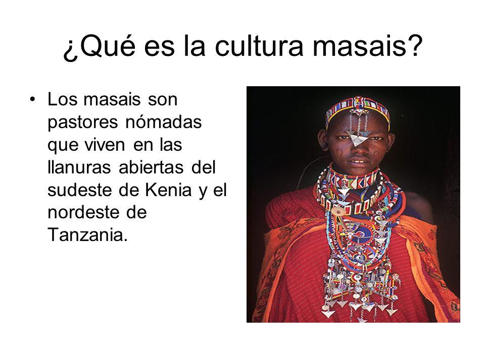 ¿Qué es la cultura masais
