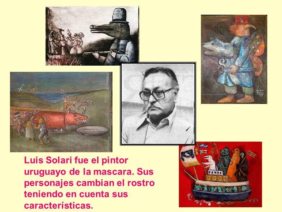 Luis Solari fue el pintor uruguayo de la mascara