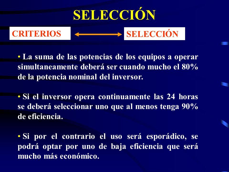 SELECCIÓN CRITERIOS SELECCIÓN