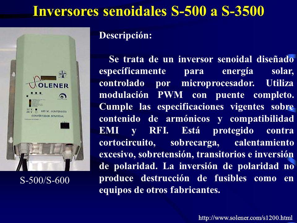 Inversores senoidales S-500 a S-3500