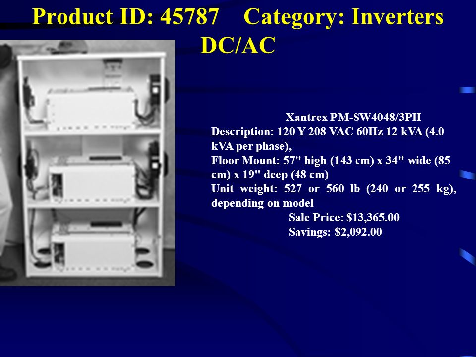 Product ID: 45787 Category: Inverters DC/AC
