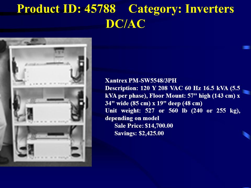 Product ID: Category: Inverters DC/AC