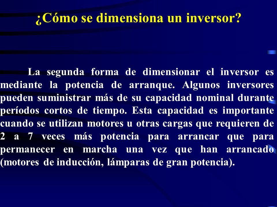 ¿Cómo se dimensiona un inversor