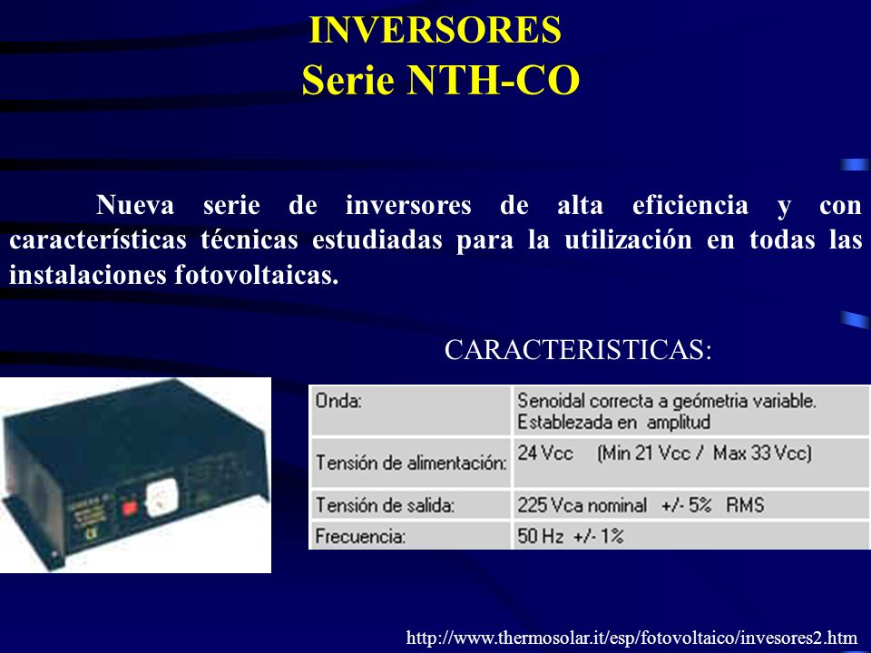 INVERSORES Serie NTH-CO