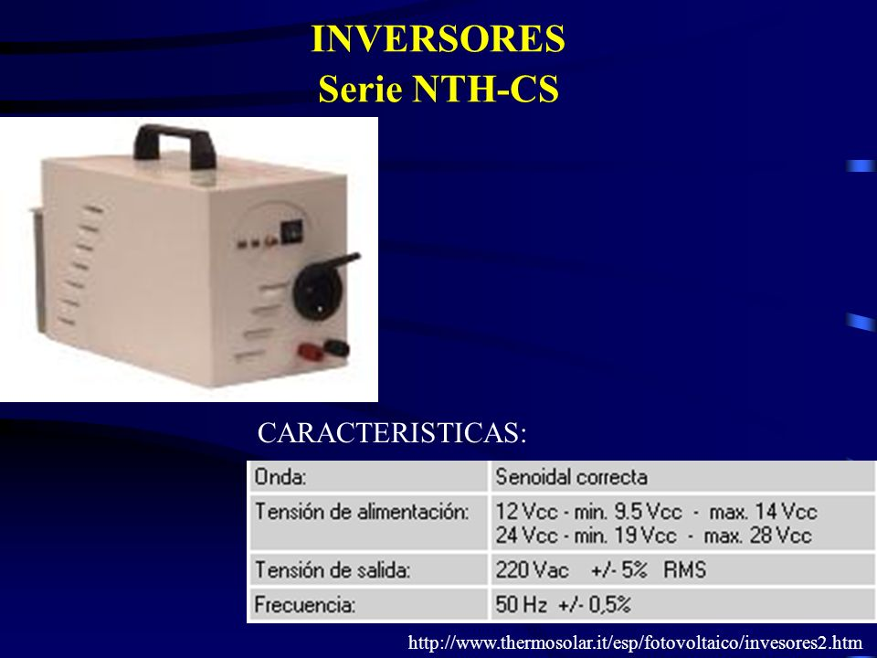 INVERSORES Serie NTH-CS