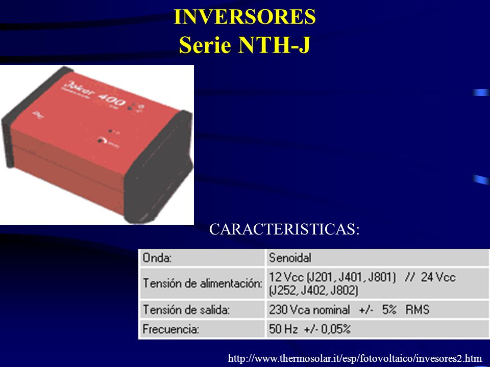 INVERSORES Serie NTH-J