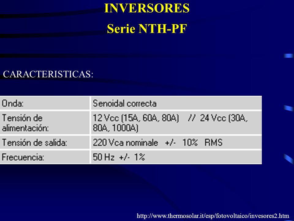 INVERSORES Serie NTH-PF