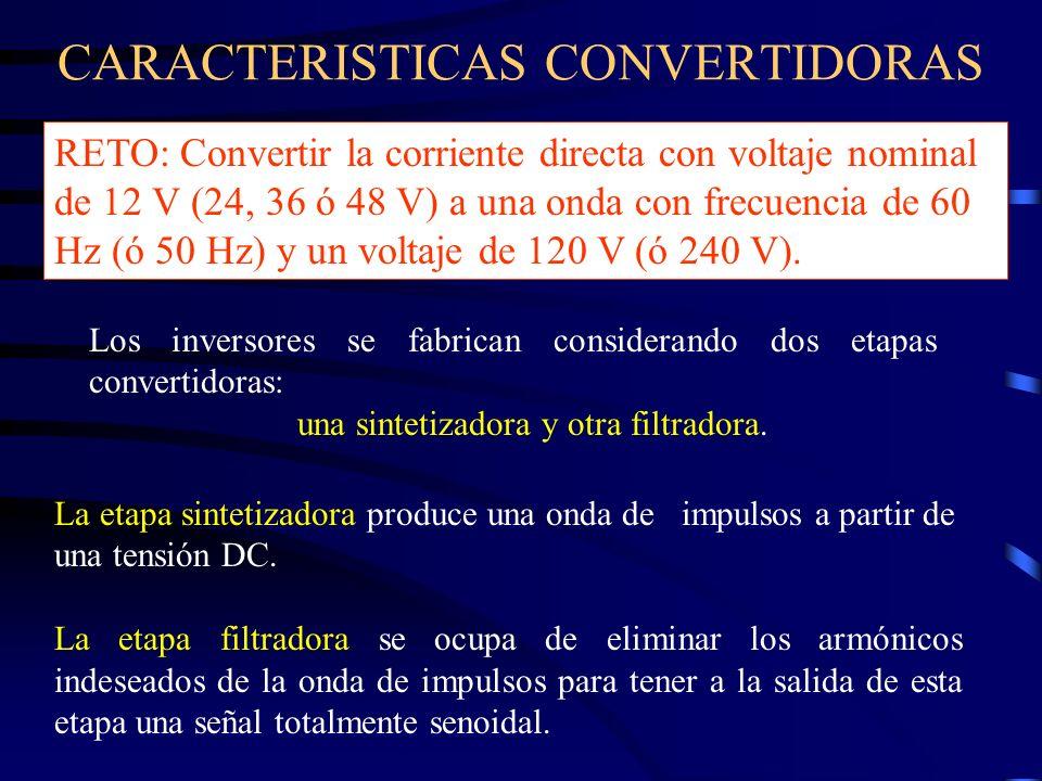 CARACTERISTICAS CONVERTIDORAS