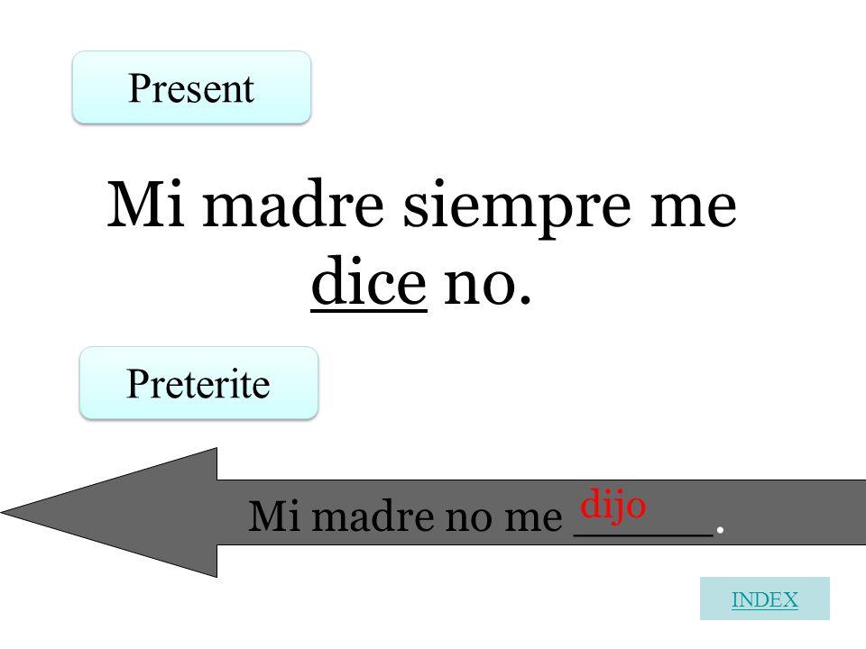 Mi madre siempre me dice no.