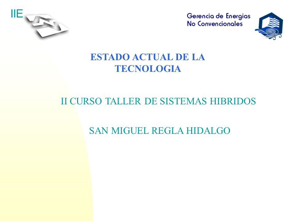 ESTADO ACTUAL DE LA TECNOLOGIA