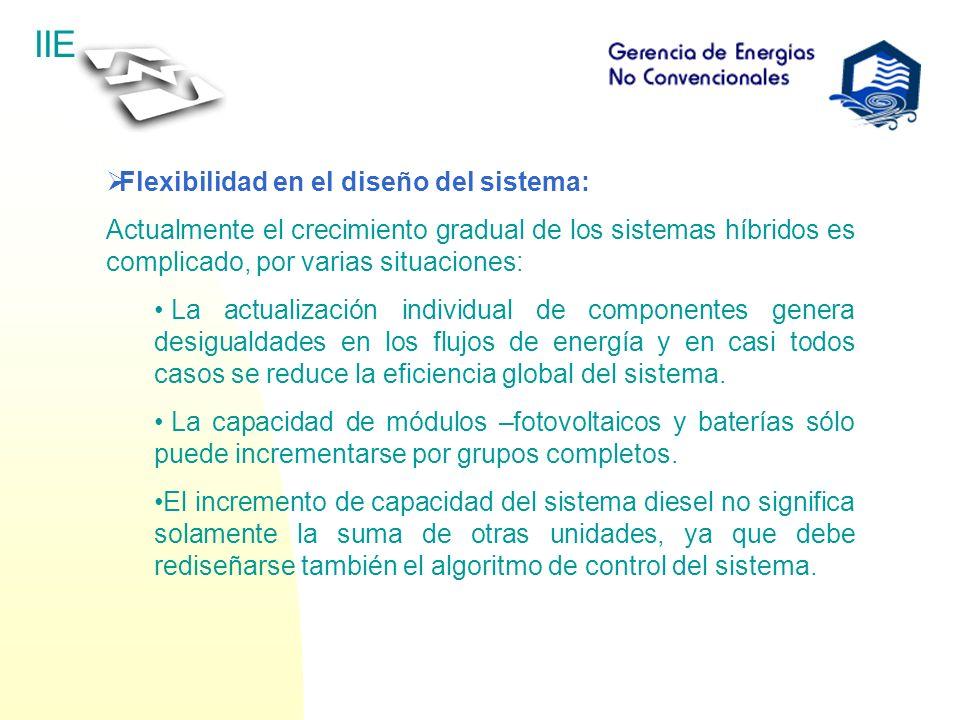 Flexibilidad en el diseño del sistema: