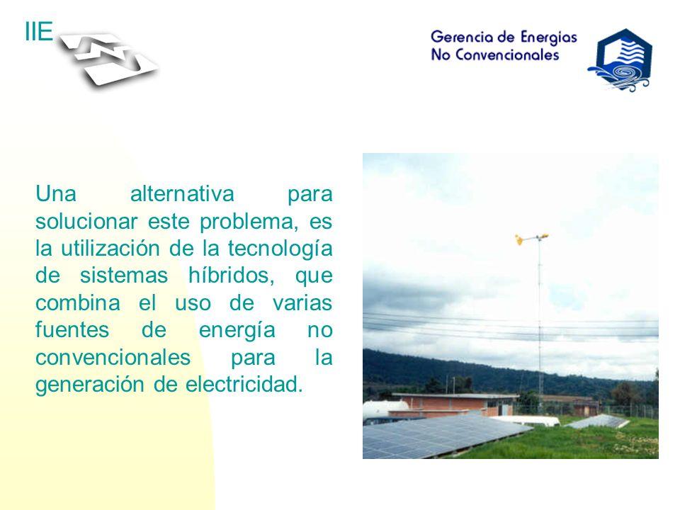 Una alternativa para solucionar este problema, es la utilización de la tecnología de sistemas híbridos, que combina el uso de varias fuentes de energía no convencionales para la generación de electricidad.