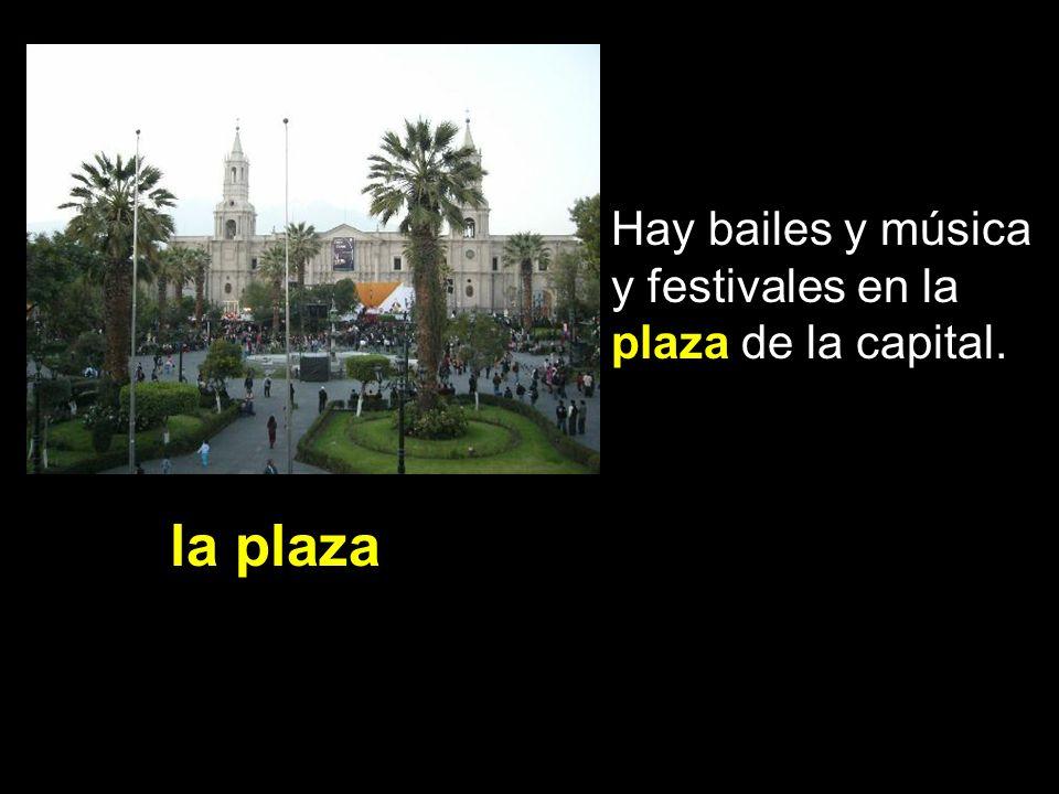 Hay bailes y música y festivales en la plaza de la capital.