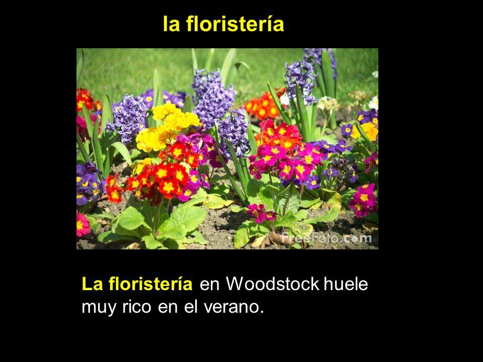 la floristería La floristería en Woodstock huele muy rico en el verano.