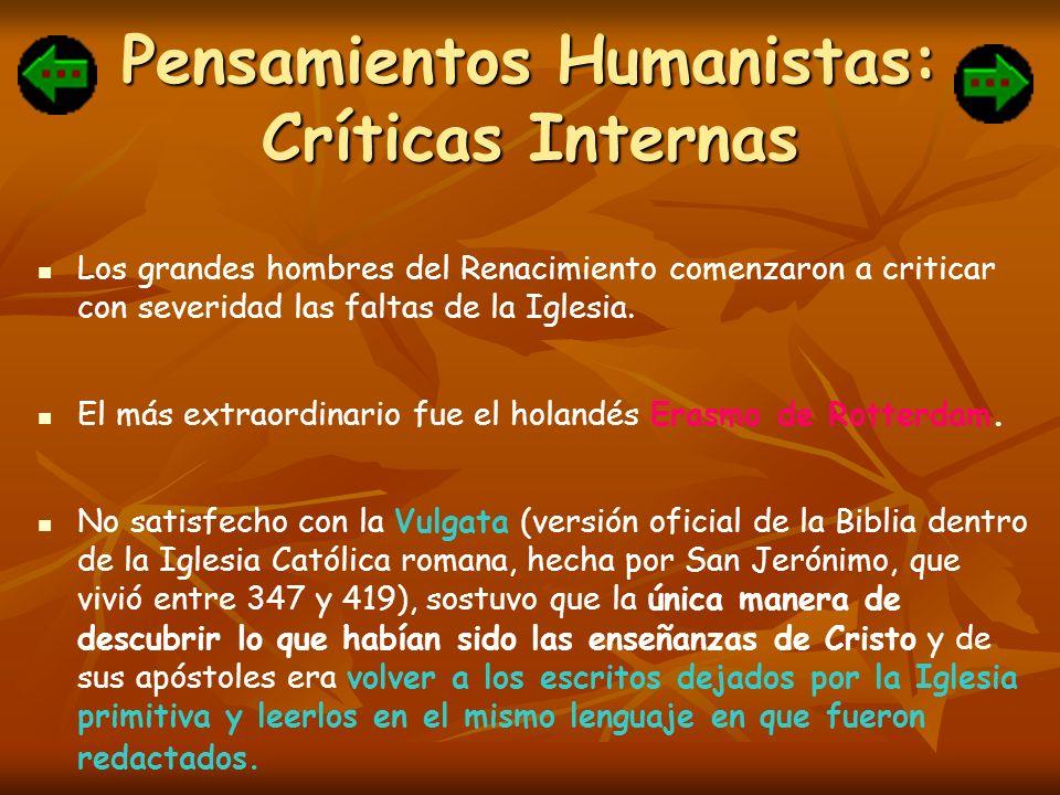 Pensamientos Humanistas: Críticas Internas