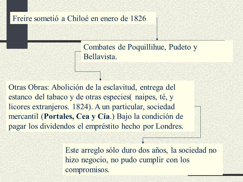 Freire sometió a Chiloé en enero de 1826