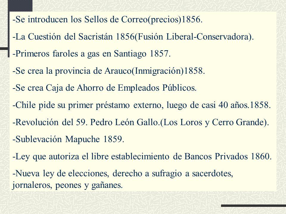 -Se introducen los Sellos de Correo(precios)1856.