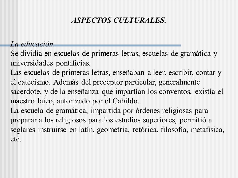 ASPECTOS CULTURALES.