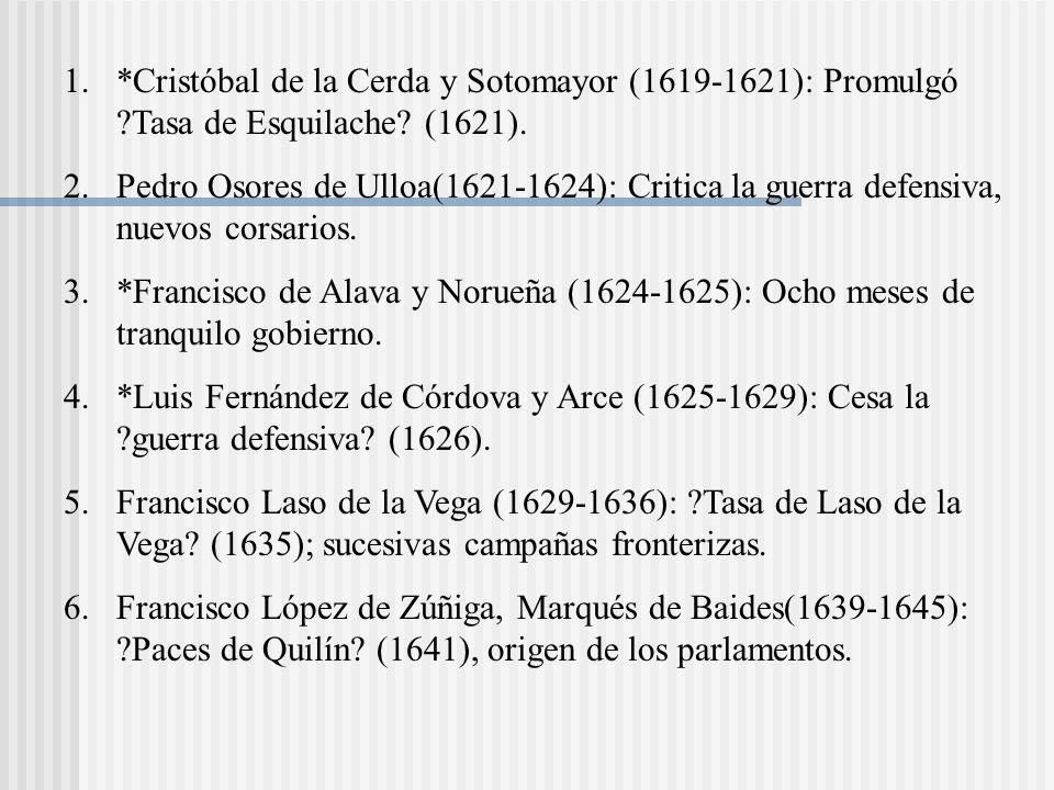 Cristóbal de la Cerda y Sotomayor (1619-1621): Promulgó