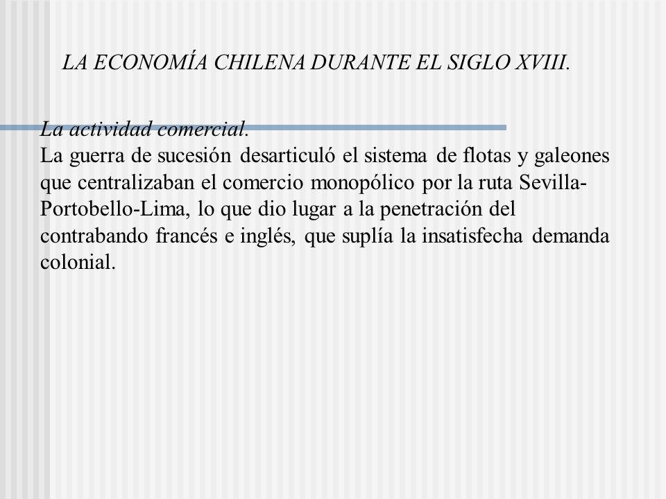 LA ECONOMÍA CHILENA DURANTE EL SIGLO XVIII.