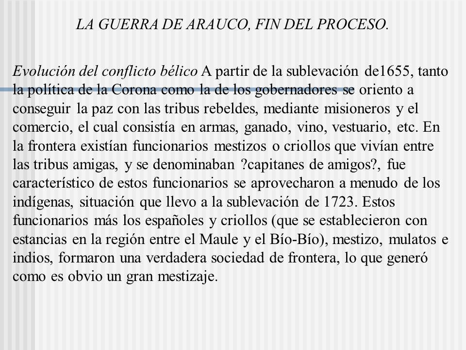 LA GUERRA DE ARAUCO, FIN DEL PROCESO.