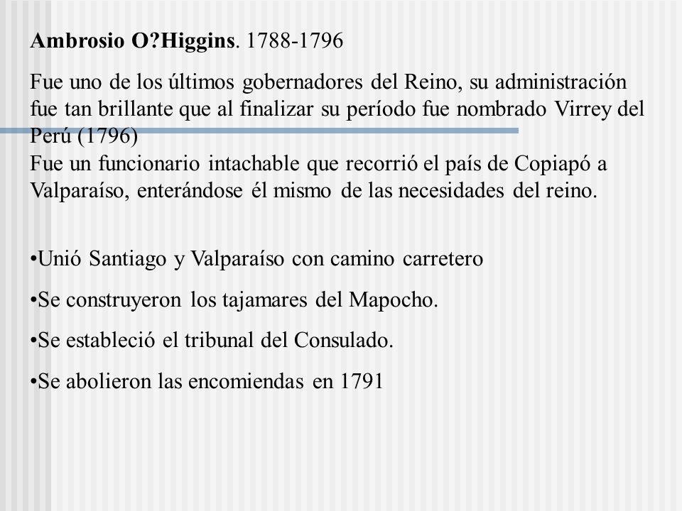 Ambrosio O Higgins. 1788-1796
