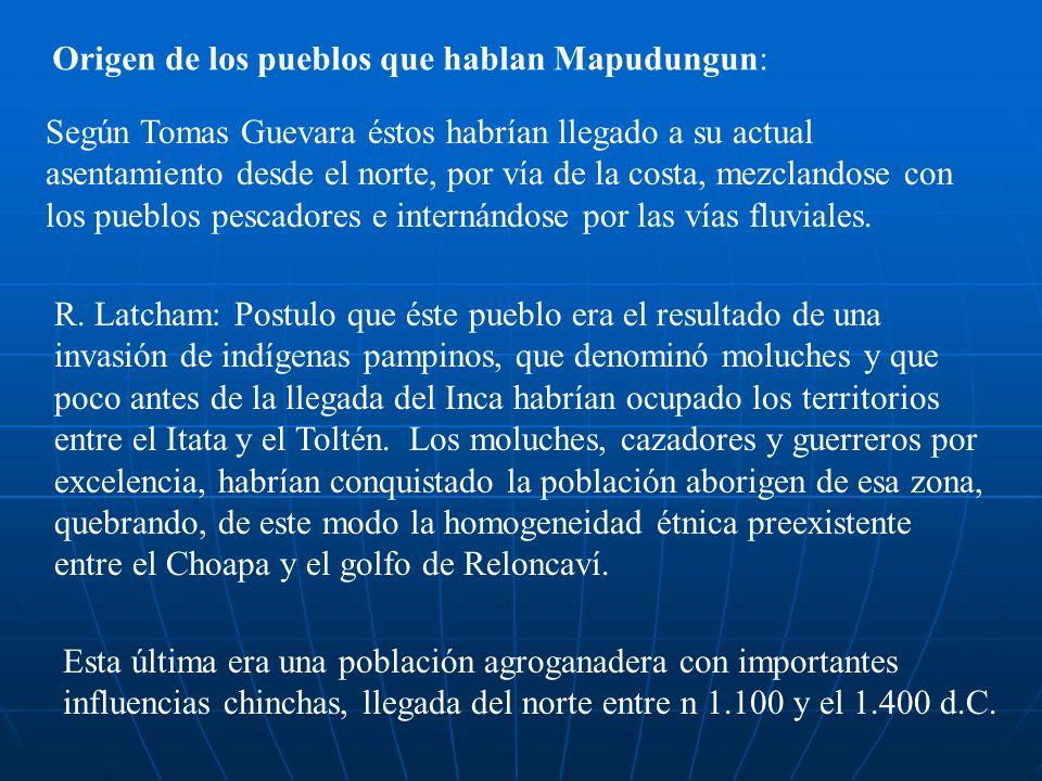Origen de los pueblos que hablan Mapudungun: