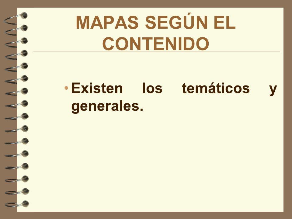 MAPAS SEGÚN EL CONTENIDO