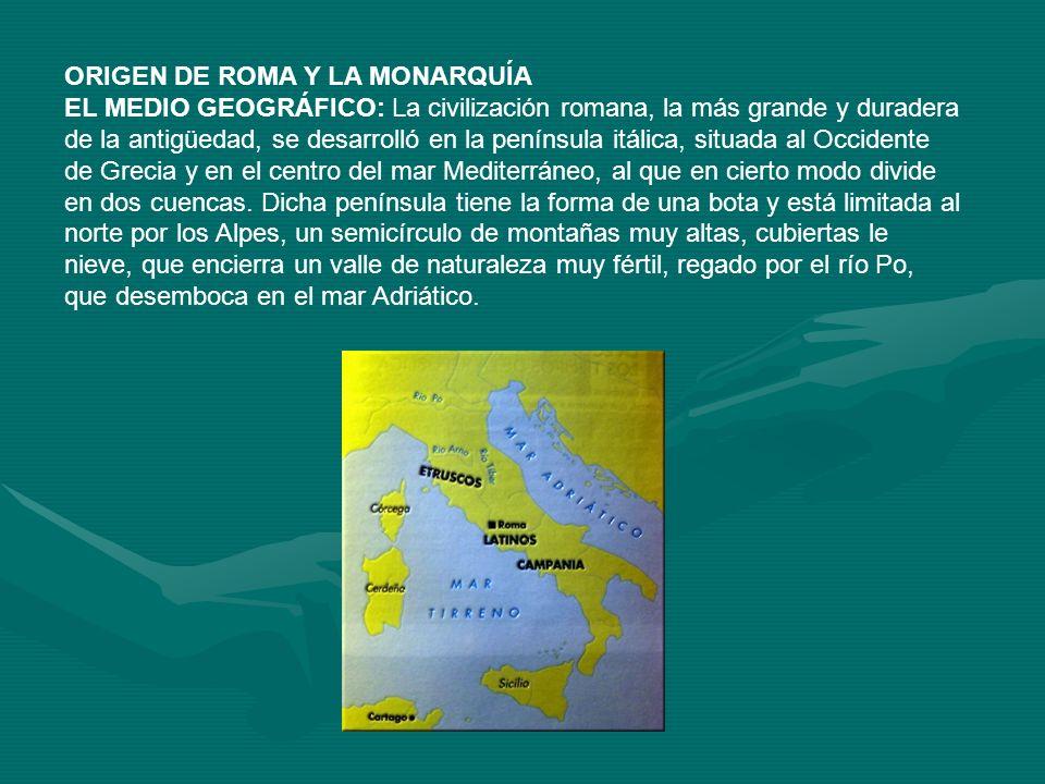 ORIGEN DE ROMA Y LA MONARQUÍA