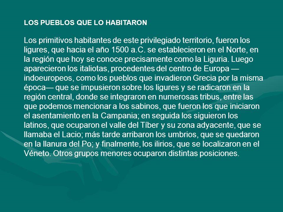 LOS PUEBLOS QUE LO HABITARON